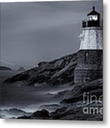 Castle Hill Lighthouse Bw Metal Print