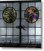 Castle In The Clouds Stained Glass To Winnipesaukee - Greeting Card Metal Print