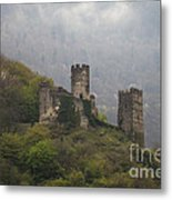 Castle In The Mountains. Metal Print