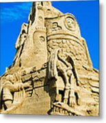 Castle In The Sand Metal Print
