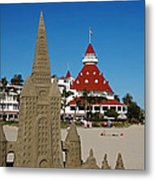 Castle In The Sand Metal Print by See My  Photos
