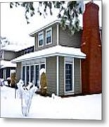 Castle In The Snow Metal Print