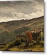 Castle On A Hill Kyle Of Lochalsh Metal Print