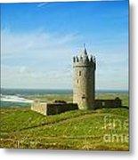 Castle On The Coast Of Ireland Metal Print