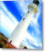 Castle Point Lighthouse Metal Print