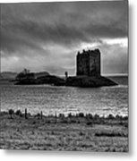 Castle Stalker Bw Metal Print
