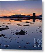 Loch Laich And Castle Stalker Metal Print