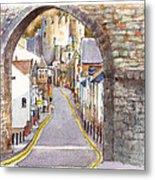 Castle Street Conwy North Wales Metal Print