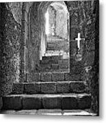 Castle Subterranean Staircase Metal Print