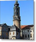 Castle Tower And Castle Weimar Metal Print