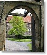 Castle Vischering Archway Metal Print