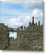 Castle Wall Walk Metal Print