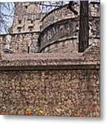 Castle With Poppies Metal Print