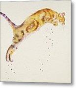 Cat-a-pult Metal Print
