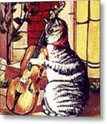Cat And The Fiddle Metal Print