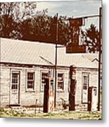 Cat Cabins And Gas Station Metal Print