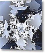 Cat In Fractaldesign Metal Print