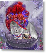 Cat In The Red Hat Metal Print