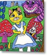 Cat In Wonderland Metal Print