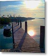 Cat Island Dock Metal Print