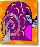 Cat N Mouse Metal Print by Kenneth North