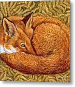 Cat Napping Metal Print by Ditz