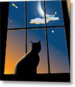 Cat On The Window Metal Print by Aleksey Tugolukov