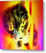 You Can Come And Visit The Cat People Metal Print