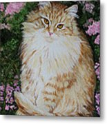 Kitten Cat Painting Perfect For Child's Room Art Metal Print