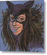 Cat Woman01 Metal Print