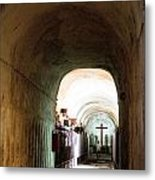 Catacombs In Palermo Metal Print