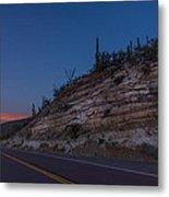 Catalina Highway Twilight Metal Print