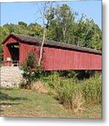 Cataract Falls Covered Bridge Metal Print