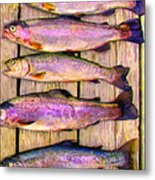 Catch Of The Day - Painterly - V1 Metal Print