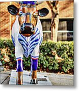 Catching Bull Metal Print by Emily Kay