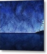 Catching The Moon Under Water Metal Print