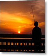 Catching The Sunset Metal Print