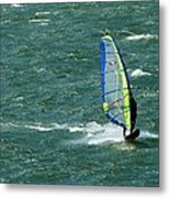 Catching Wind And Surf Metal Print