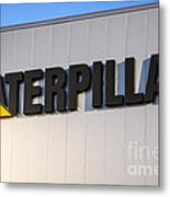 Caterpillar Sign Picture Metal Print by Paul Velgos