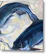 Catfish And Shripm Metal Print