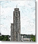 Cathederal Of Learning Artistic Brush Metal Print