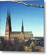 Cathedral At Uppsala Metal Print