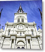 Cathedral-basilica Of St. Louis King Of France Metal Print
