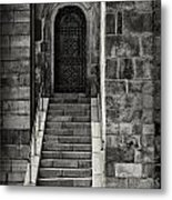 Cathedral Door And Steps Metal Print