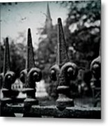 Cathedral Fence Metal Print