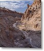Cathedral Gorge Wash Metal Print