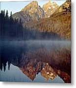 4m9304-cathedral Group Reflection, Tetons, Wy Metal Print