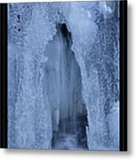 Cathedral Ice Waterfall Metal Print