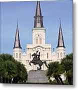 Cathedral In Jackson Square Metal Print