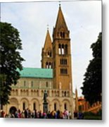 Cathedral In Pecs Metal Print